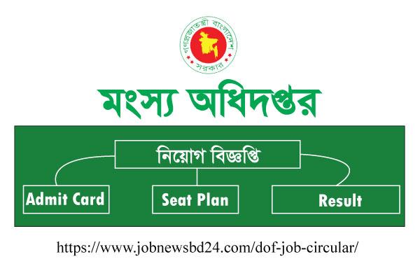 Department of Fisheries DOF Job Circular 2021, Apply Form 1